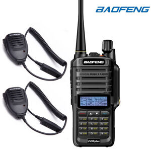 BAOFENG-Two-Way-Walkie-Talkie-Radio-Handheld-Speaker-Mic-GT-3WP-UV-5S-UV-9R