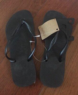 609ef82bd Havaianas Black Slim Preto flip flops Size 4 5 Authentic NEW
