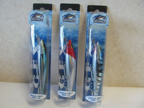 VARIOUS COLOURS AVAILABLE WILLIAMSON SPEED PRO DEEP LURE 130mm WEIGHT 30g