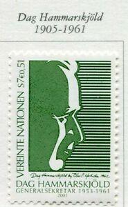19445) United Nations (Vienna) 2001 MNH Dag Hammaskjold