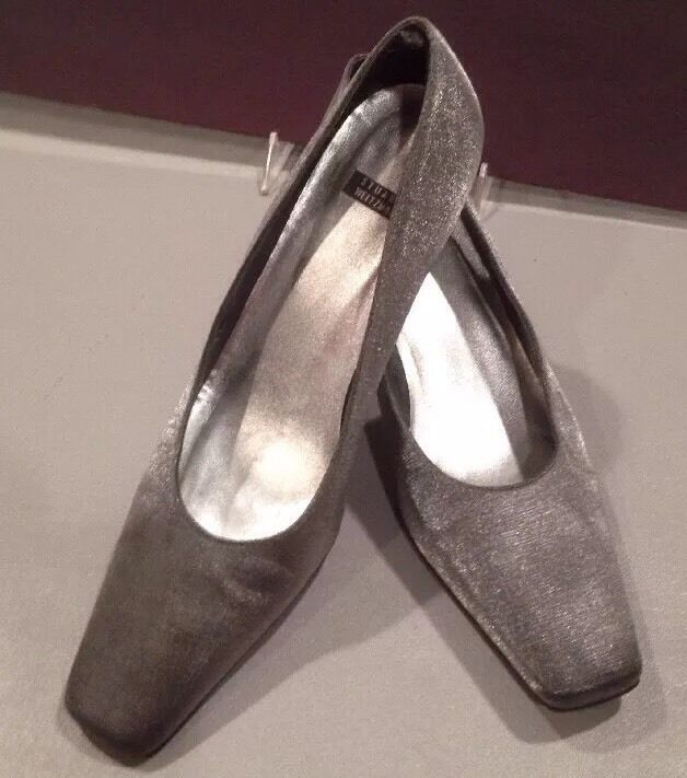 Gentleman/Lady 9 1/2 Stuart Weitzman Grey Pump Year-end special promotions Win the praise of customers Shopping promotion