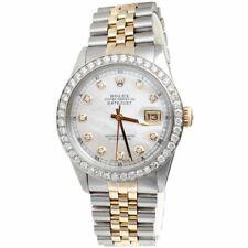 Mens Rolex 36mm Diamond Watch DateJust 18k/Steel Two Tone Jubilee Band 2 CT.