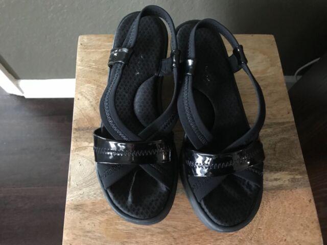 skechers memory foam wedge sandals