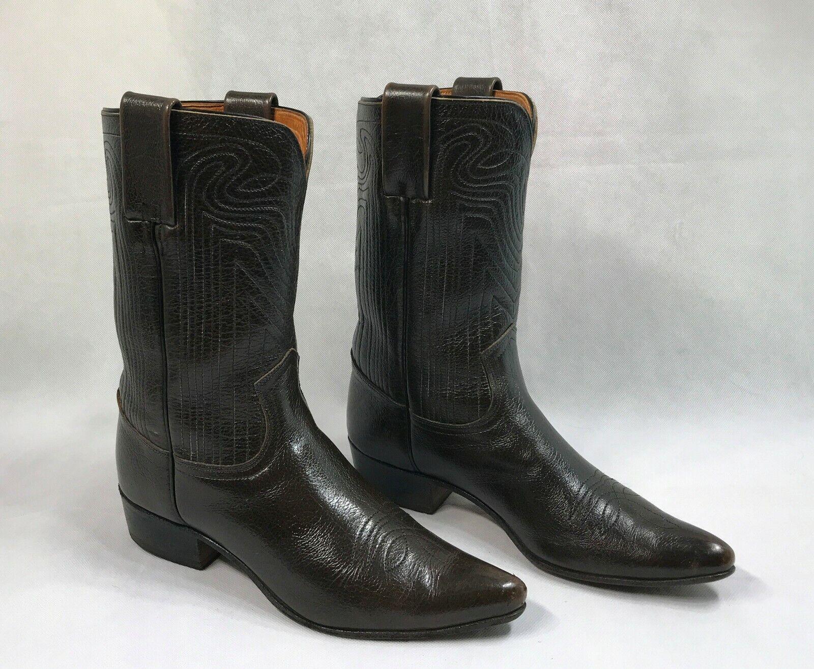 Original Frye Echtleder Western Stitch Stiefel Damen Größe 6M