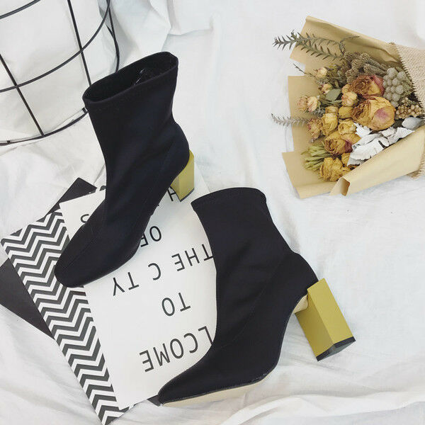 botas bajo tobillo 7 cm como negro oro mode elegantes como cm piel 9538 6c3fdc