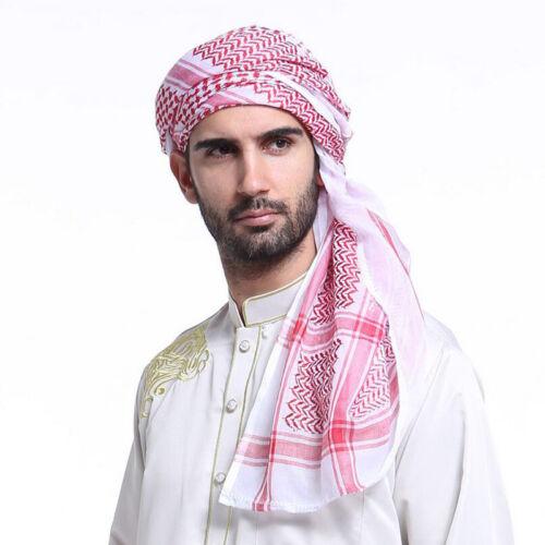 Muslim Head Scarf Islamic Clothing Arab Dubai Kefiyyeh Headwear Scarf For Men
