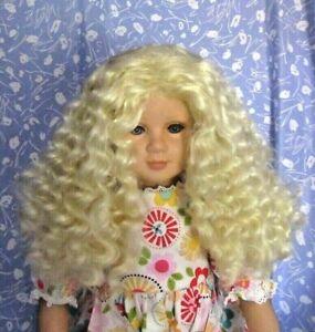 Kemper-DAISY-Plat-Blond-Full-Cap-Doll-Wig-Size-13-14-Long-Full-Wavy-Glam