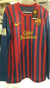 NWT Authentic Nike 2011 Barcelona home L/S Jersey XXL messi Ibrahimović era