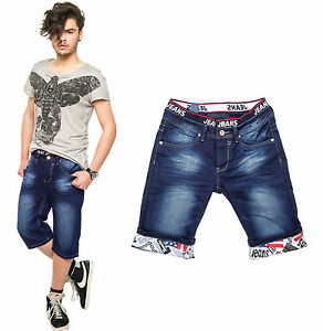 coole herren bermuda jeans shorts bermudajeans hose kurz. Black Bedroom Furniture Sets. Home Design Ideas