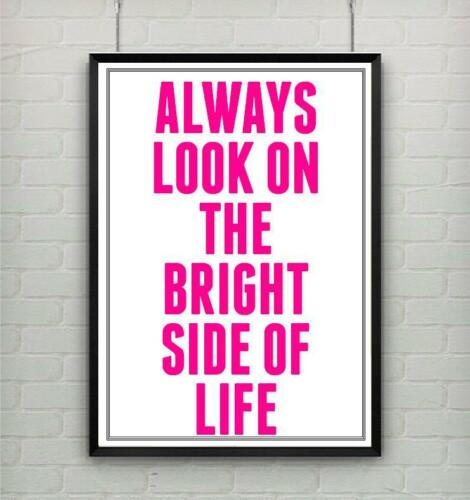 Motivational inspirational quote positive poster picture print BRIGHT SIDE LIFE