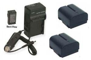 TWO BNV408 Batteries  Charger for JVC    GR   D70U    GR   D72U    GR
