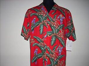 938d097ab Image is loading Jungle-Bird-Shirt-Paradise-Found-NEW-Hawaiian-Shirt-