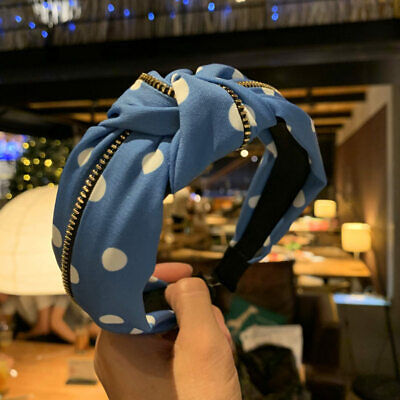 Frauen Stoff Krawatte Stirnband Haarband Wide Knot Twist Haarband Band Mode