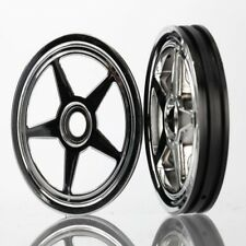 Traxxas 6974 Wheels 5-Spoke Chrome Front (2) Funny Car