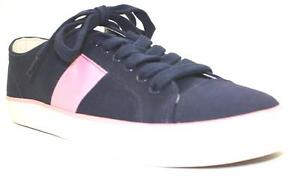 Women-039-s-Shoes-Chaps-WREN-Fashion-Sneaker-Lace-Up-Canvas-NAVY-PINK