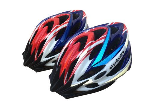Hardnutz Casque Vélo Route Montagne Vélo Cyclisme Hi Vis Rouge Blanc Bleu 54-61 cm