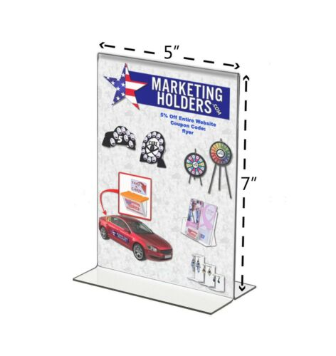 Double Sided Menu Retail Price Sheet Picture Display Frame Clr Premium Acrylic B