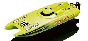 Amewi-RC-Rennboot-Adventure-gruen-2-4-GHz-30km-h-Katamaran-26074