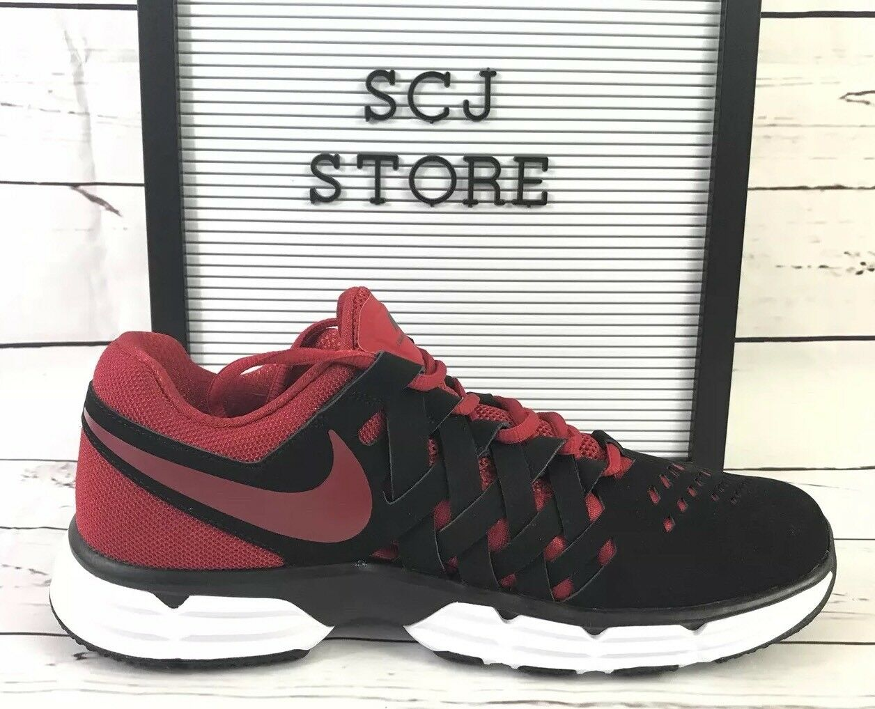 Nike Lunar Finger trap Men's Training Training Training shoes 898066 Black Gym Red. Size 9.5 6f86f9