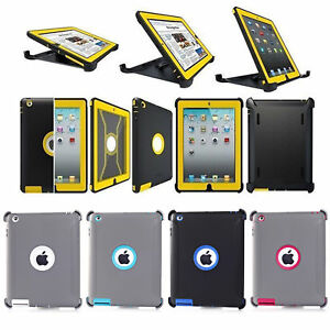 innovative design dac73 4b379 Details about Defender Series Case Cover For iPad 2/3/4 Gen (Shield Stand  Fits for Otterbox)