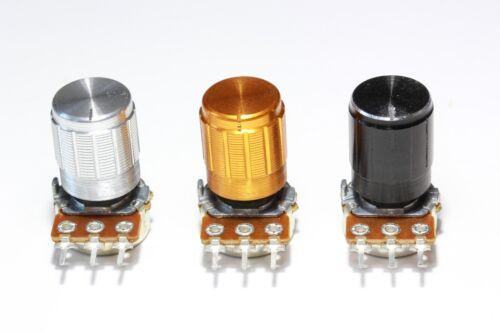 Linear Potentiometer Rotary /> 2M with Aluminium Knob Type 3 500R 15mm