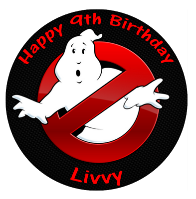 """Ghostbuster Cake  topper 7.5/""""  round"""