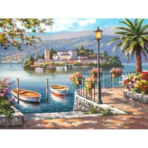 Boat-Landscape-DIY-Paint-By-Numbers-Digital-Oil-Painting-Office-Home-Decor