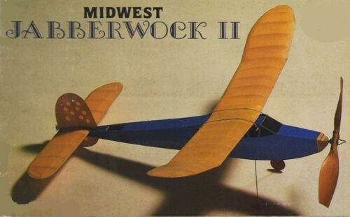 Model Airplane Plans (FF): Midwest JABBERWOCK II 31-3/4 Rubber-Powered