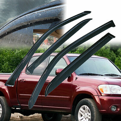 For 2004-2006 Toyota Tundra Crew Cab SMOKE Door Vent Visors Window Rain Guards