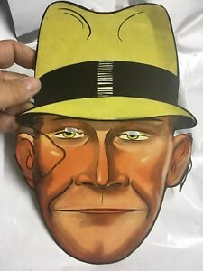 * Rare 1933  Dick Tracy Paper Costume Mask Handi Tape  Give A Way- New Old Stock