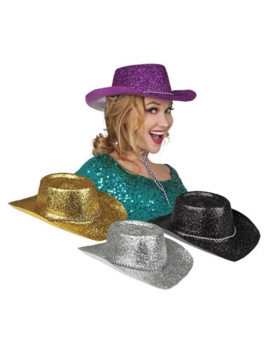 Hut Rodeo Glitzer Party Kostüm