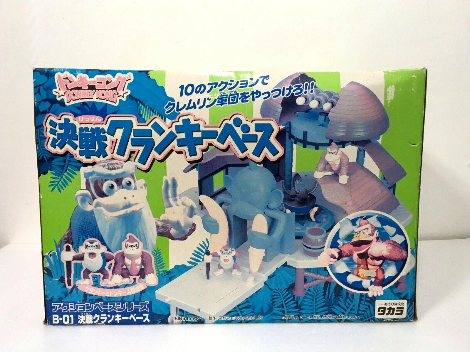 Takara Donkey Kong Action Base Series B-01 Cranky Base w Donkey & Cranky Figure