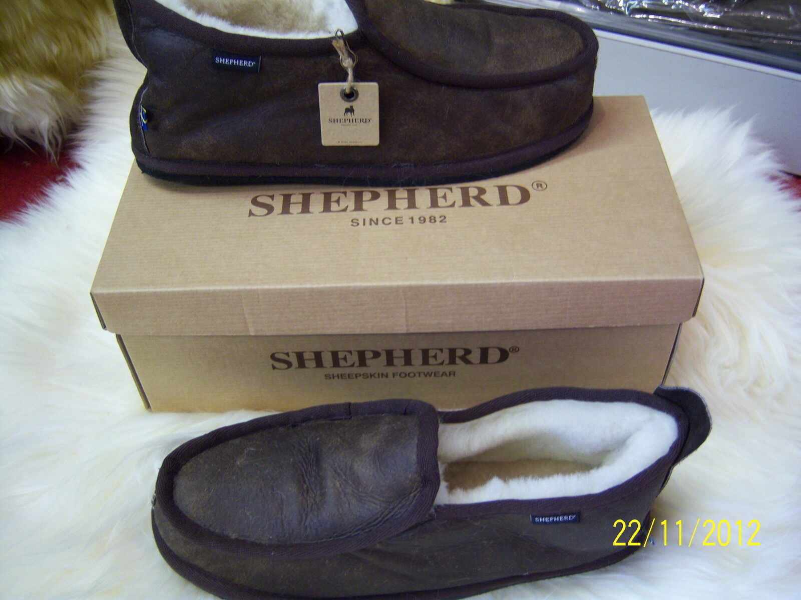 Uomo Gunuine Sheepskin Slippers By Shepherd Sweden