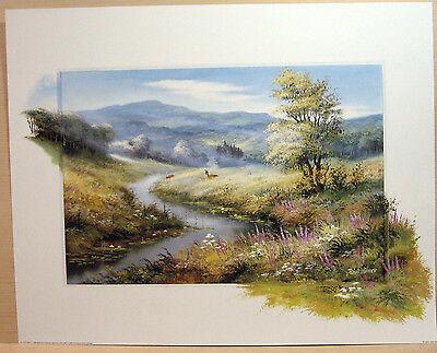 """132 D Reint Withaar /""""Lonely deers/"""" 40 x 50 cm"""