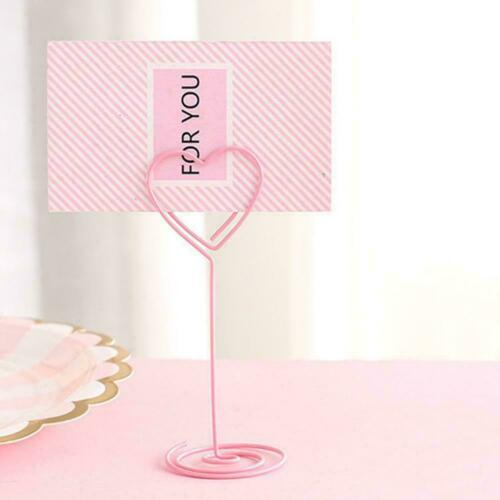 Desk Note Folder Wedding Card Holder Table Photo Memo Name Message Clip Num Q4J5