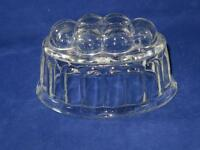 Vintage Glass Jelly Mould Traditional Six Domes and Fluted Sides (Small)