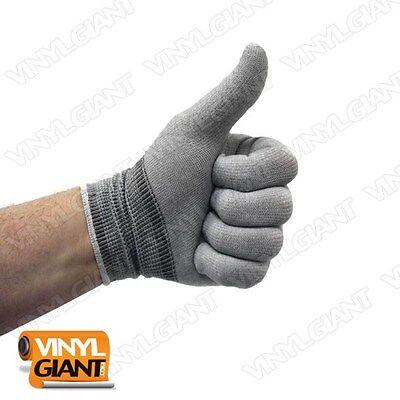 6 Glov... VViViD Grey Professional Vinyl Wrap Anti-Static Applicator Glove Pair