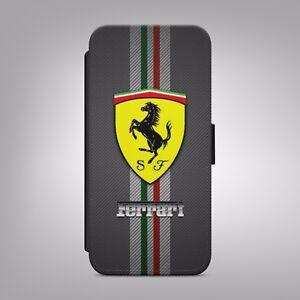 FERRARI-carbone-voitures-Logo-Supercar-un-Cuir-Flip-Case-Cover-pour-iPhone-SAMSUNG