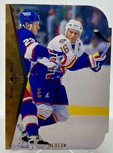 Brett Hull - 1994-95 Upper Deck SP DIE CUT Hockey Card #100 St. Louis Blues