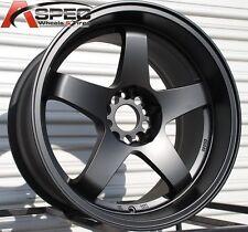 18X10/12 Rota P45R Wheels 5X114.3  Black Rims Fits 350z 370z G35 Supra Wide body