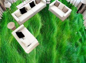 3D Lush Green Grass 5 Floor WallPaper Murals Wall Print 5D AJ WALLPAPER UK Lemon