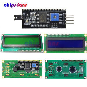 Details about 1602 2004 LCD Board Module 16x2 LCD Display Module Controller  I2C HD44780 CF
