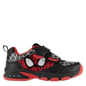Character-Kids-Light-Up-Infants-Trainers-Boys-Reinforced-Shoes-Panels-Textile