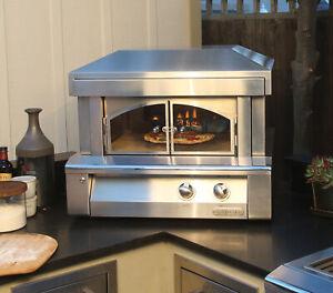 """Alfresco 30"""" Countertop Gas Pizza Oven with Ceramic Infrared Hearth Burner"""