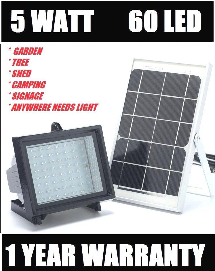 2018 Bizlander 60 LED luz de inundación 874 LM Solar para Jardín con kits