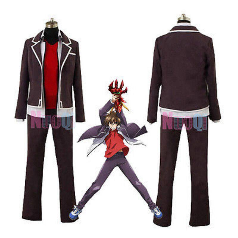 Anime High School DXD Hyoudou Issei Tsto Issei School Uniform Cosplay Costume