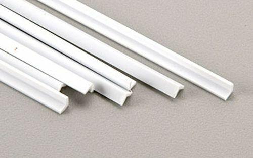 "White Plastic 7 Plastruct 90504 AFS-4 Angle 1//8/"" H/&W x .030/"" T x 15/"" Long"
