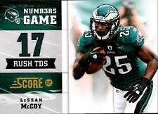 2012 Score Numbers Game Glossy #7 LeSean McCoy Eagles