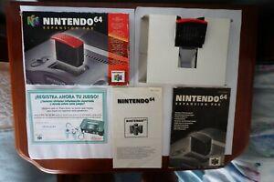 Expansion Pak Nintendo 64 nei 007 n64 complete manual cuadernillo genuine pal EUR