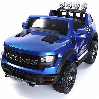 Ford Ranger Wildtrak Style 12v Children's Electric Ride On Jeep - Blue
